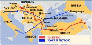 Южен поток ще бъде построен преди Набуко